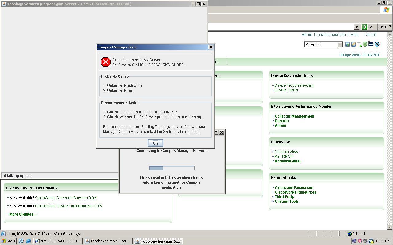 ciscoworks topology services error.JPG
