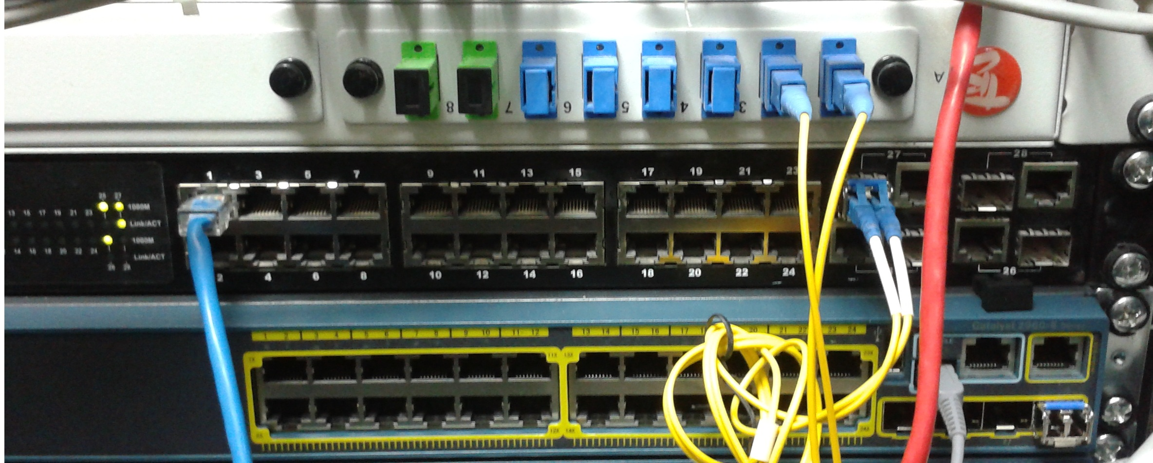 Help With Connection To Fiber Optic Lan Switching And