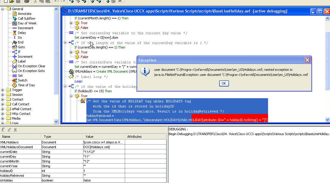 Same error in two scripts - Cisco Community
