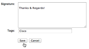 Add a personalized signature to your Cisco Support Community comments