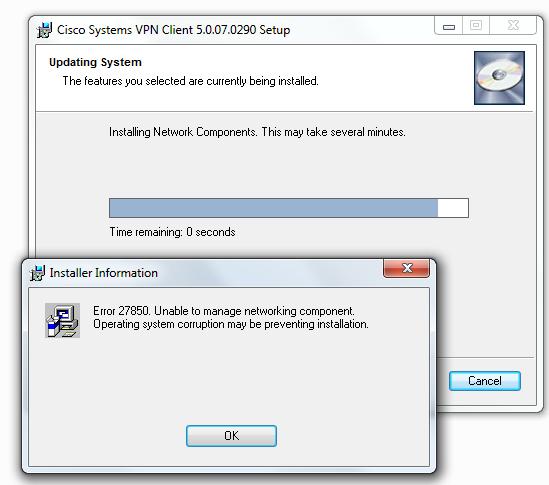 error 27850