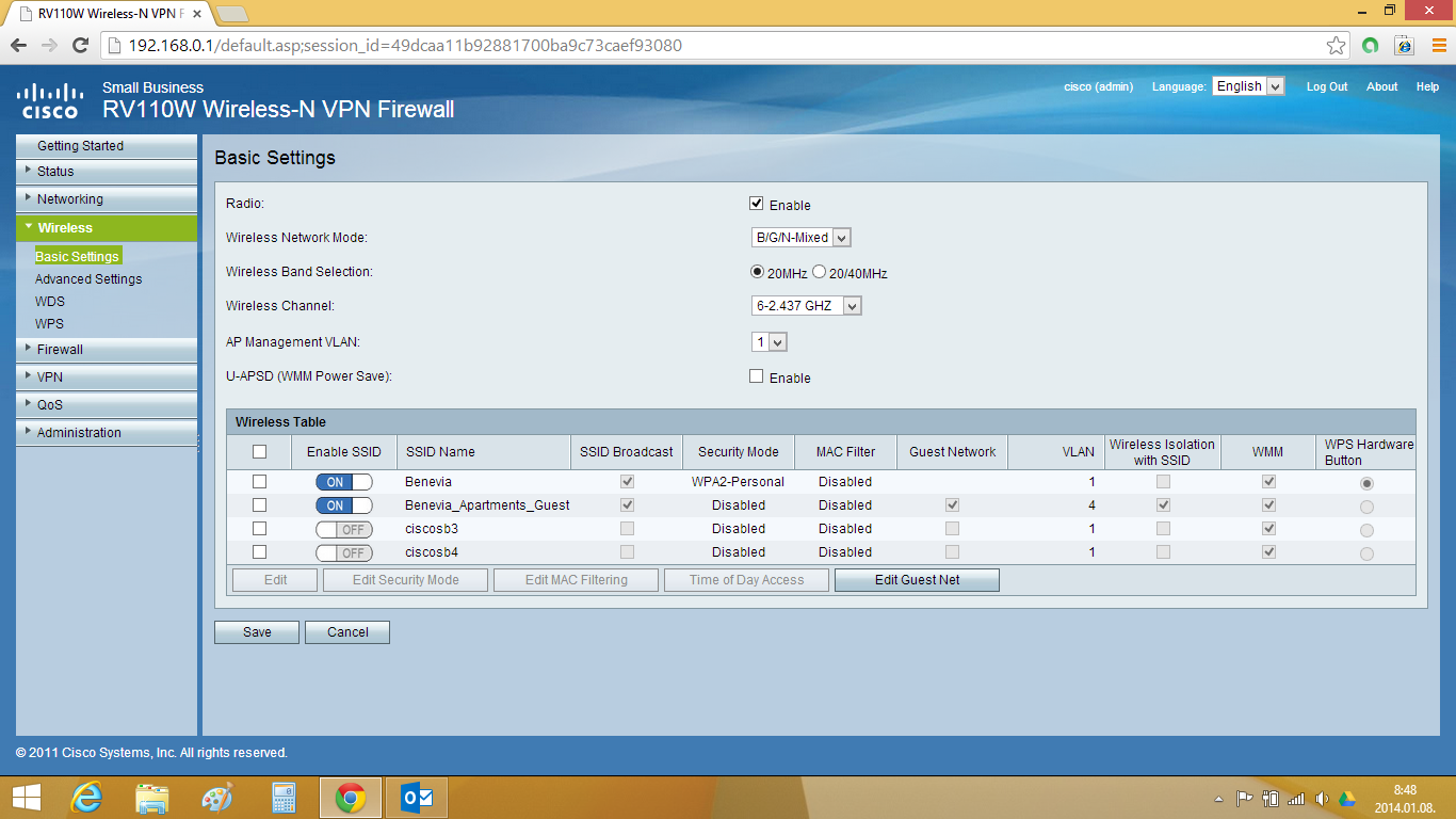 Cisco rv042 client to gateway setup