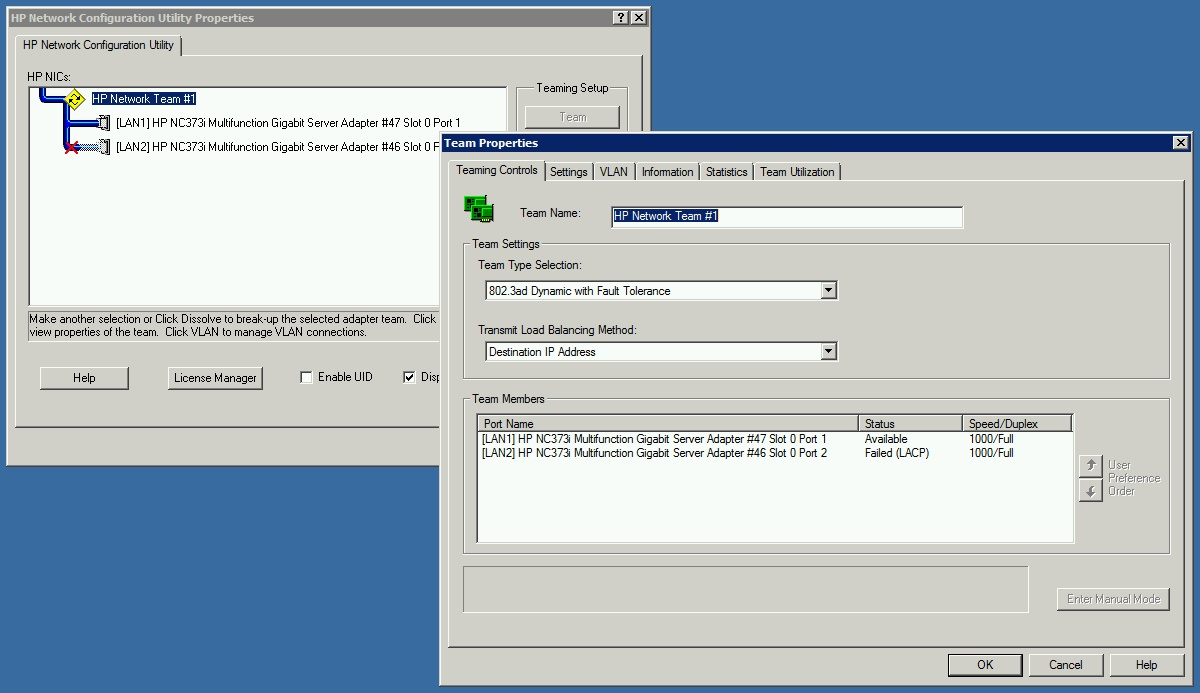 Solved: HP NIC Teaming with Cisco switch - Cisco Community
