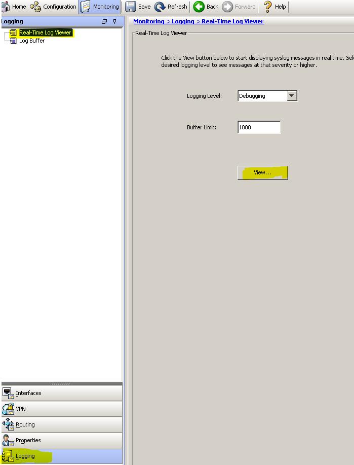Solved: Cisco ASA live firewall logs checking i    - Cisco