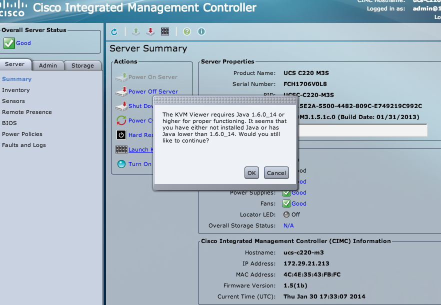 Can't launch KVM Console - Cisco Community