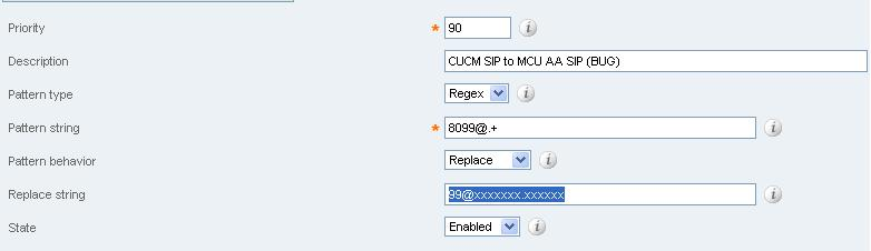 CUCM (Cisco Jabber) - VCS - MCU (failed appeal of SIP - SIP