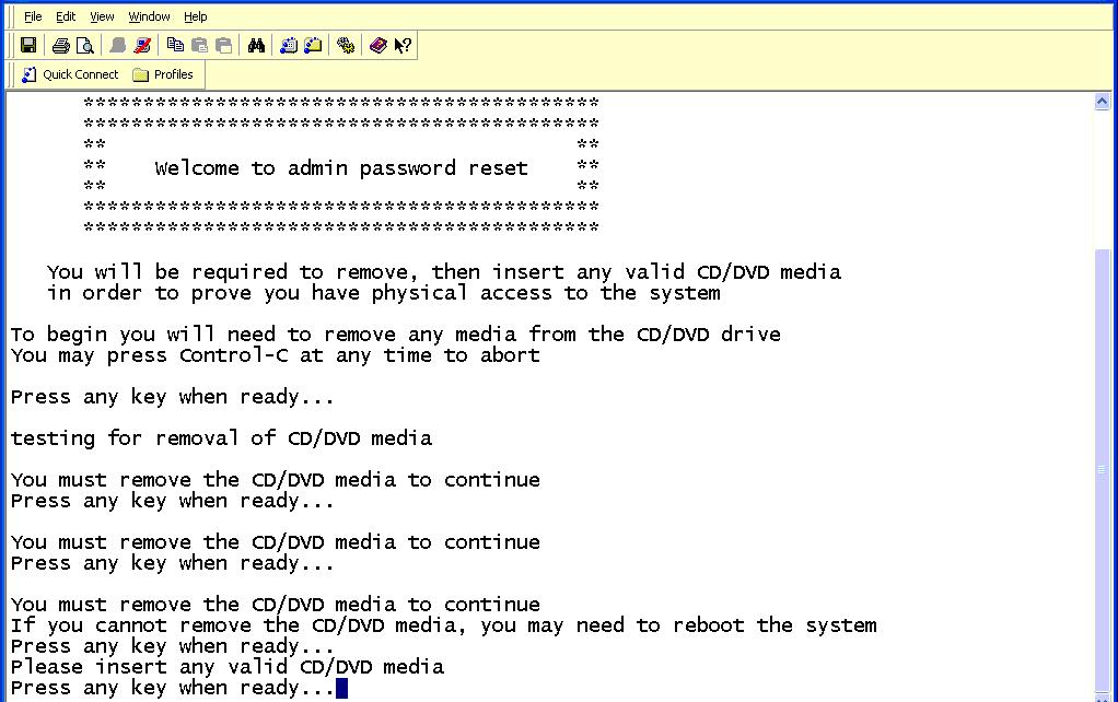bell how to get administrator password