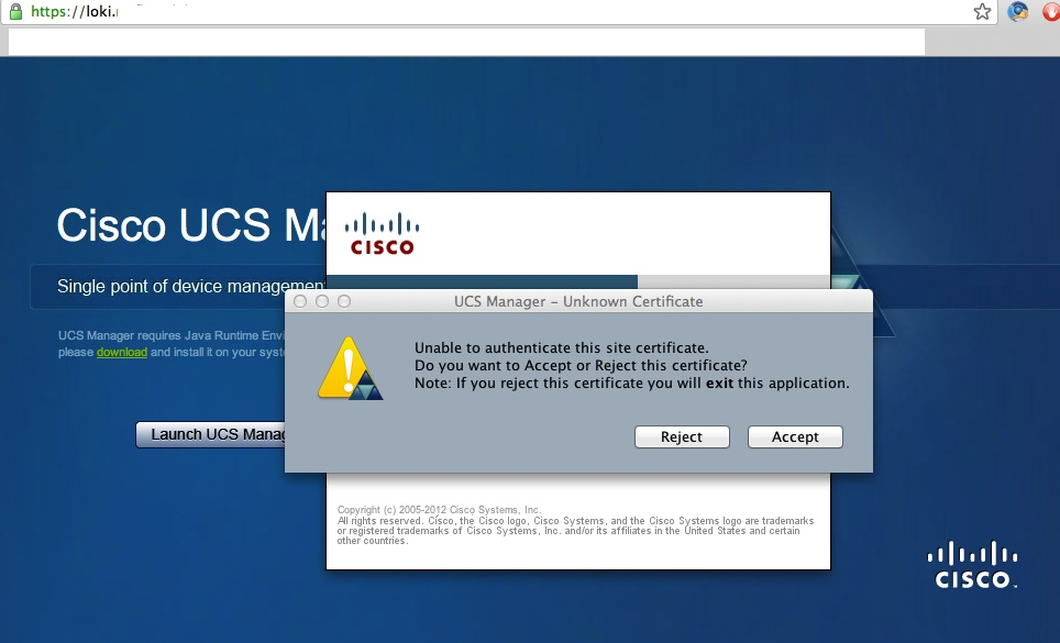 Ucs Manager Unknown Certificate Cisco Community