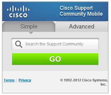 Cisco Support Community Mobile - .mobi
