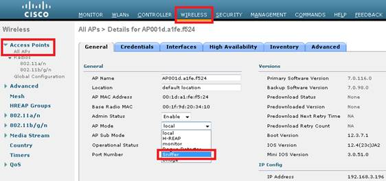 Collecting a Wireless sniffer trace usi    - Cisco Community