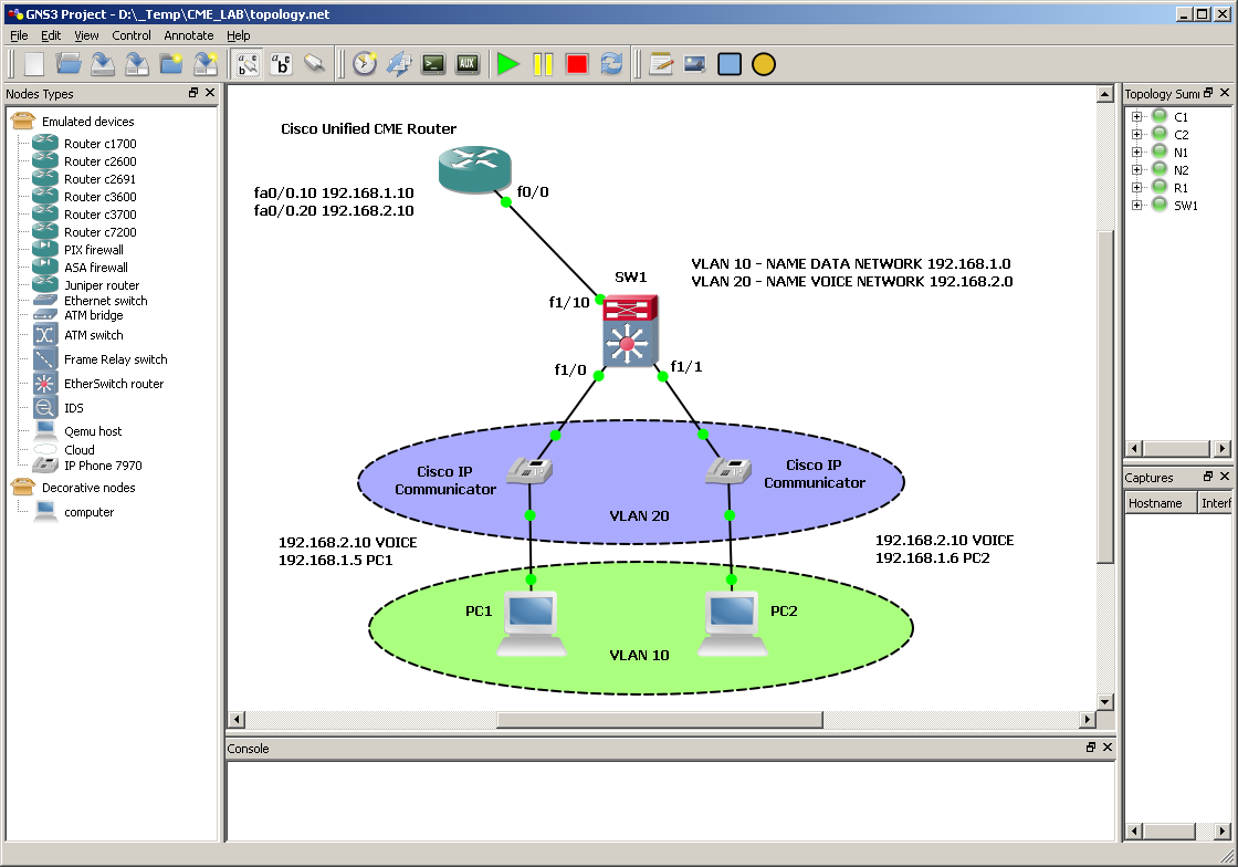 GNS3 and problem with VLANs on c3700 - Cisco Community