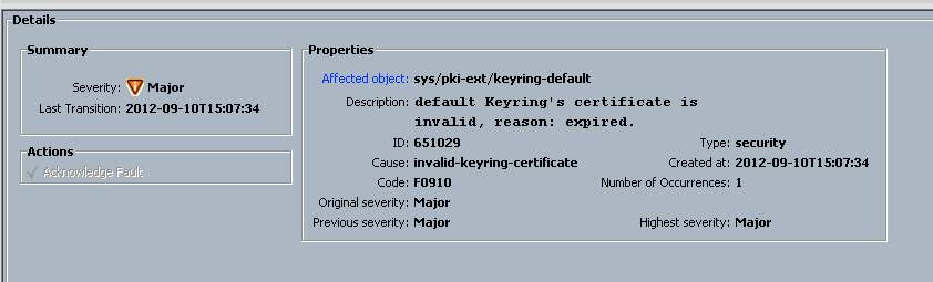 Solved: Default Keyring\'s certificate is invali... - Cisco Community