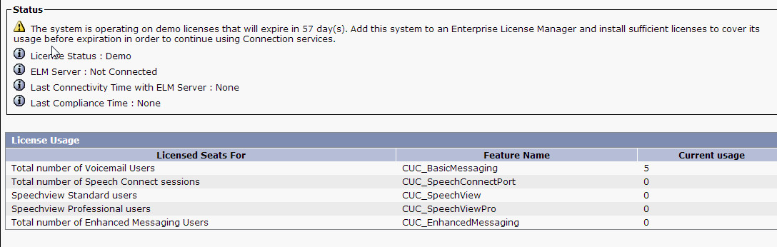 Unity Connection demo license - Cisco Community