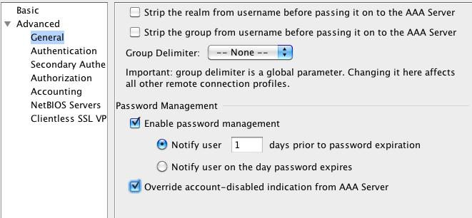 Cisco ACS user password change? - eehelp com
