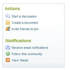 Actions on the Cisco Support Community