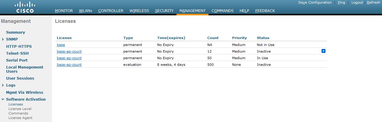 Adding more license WLC 5508 - Cisco Community