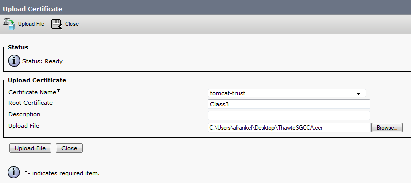 CUCM Uploading CCMAdmin Web GUI Certifi... - Cisco Community