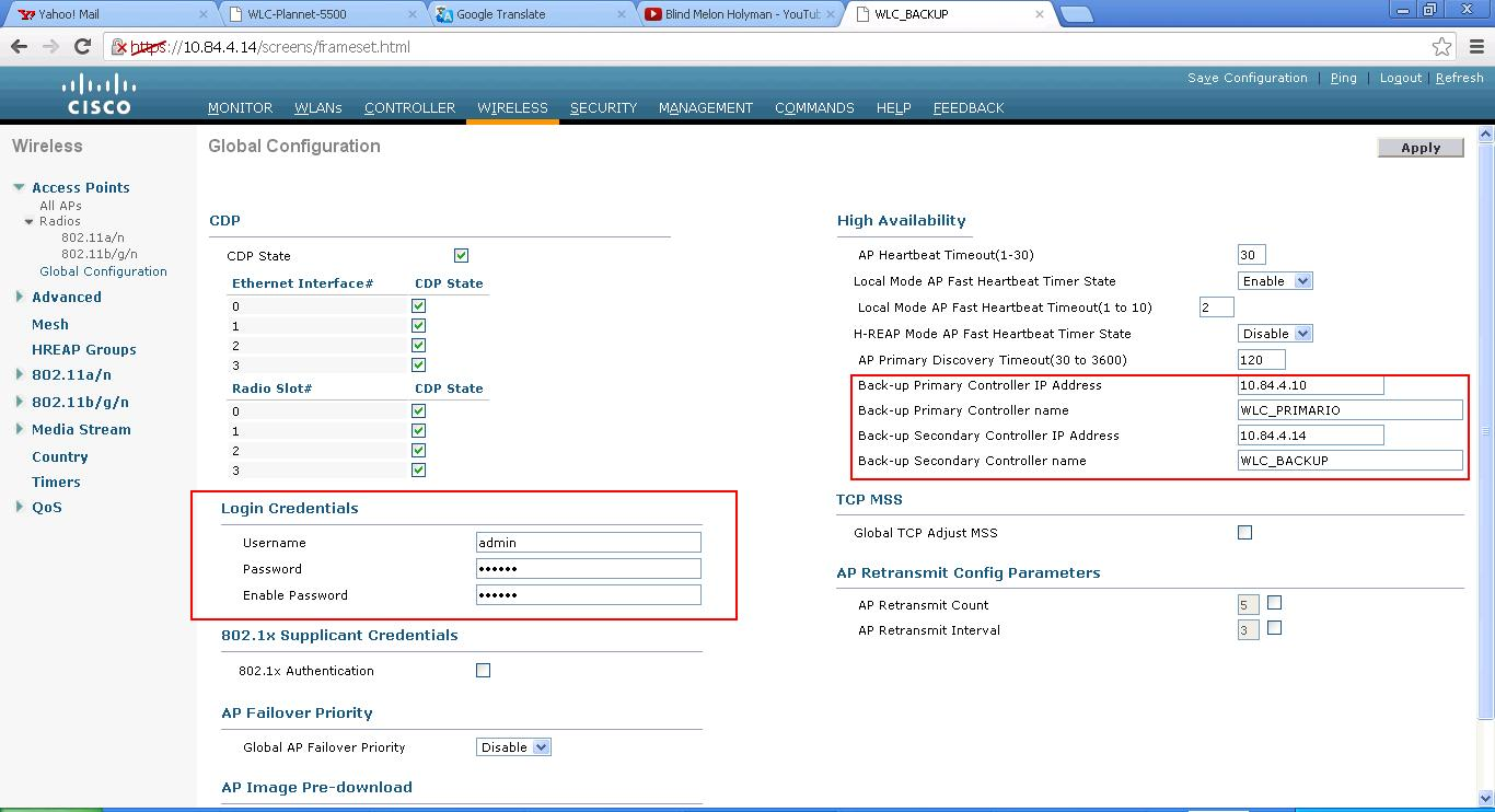 Solved: WLC global configuration?? - Cisco Community