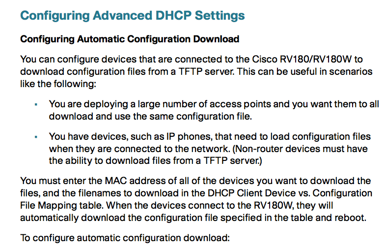 Solved: low cost router with DHCP option 66 - Cisco Community