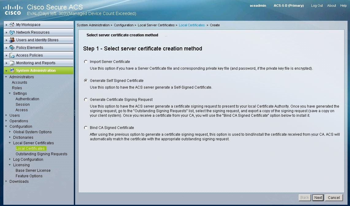 How To Generate Self Signed Certificate Cisco Community