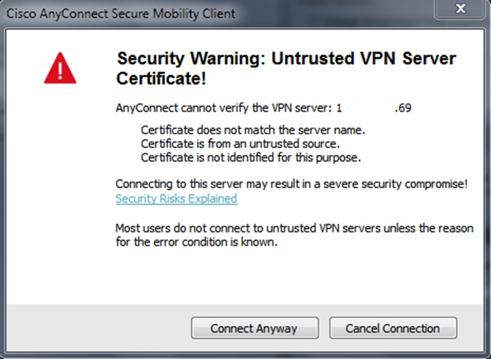 Solved: Cisco AnyConnect Secure Mobility Client    - Cisco