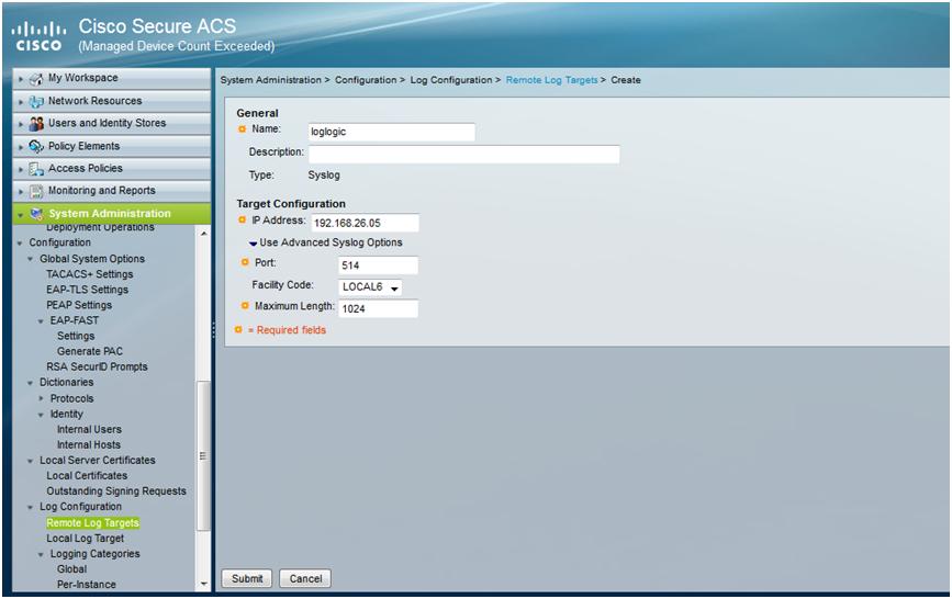 ACS 5 x: Configuring the external syslo    - Cisco Community