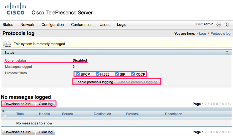 cisco telepresence serverのログ取得方法 cisco community