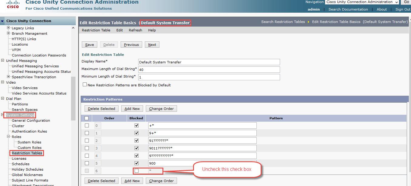 Call Handler transfer any extension - Cisco Community