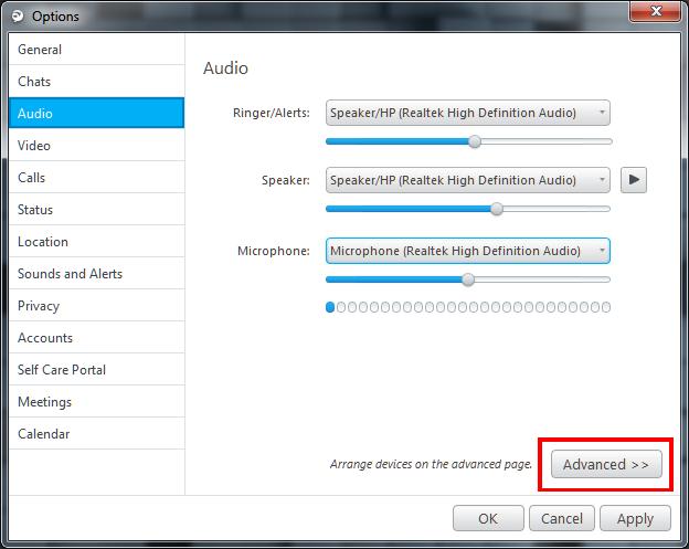 Jabber for Windows Audio Setting Method - Cisco Community