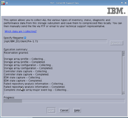 IBM Storage Logs Capture