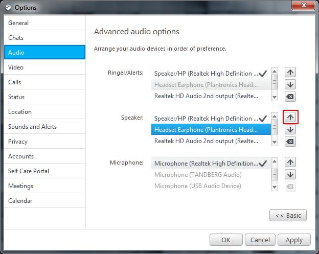 Jabber for Windows Audio Setting Method 4