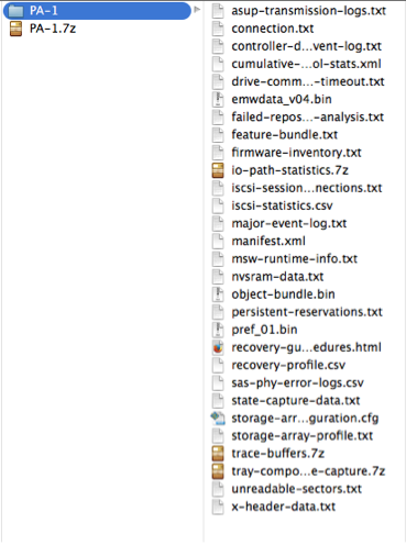 IBM Storage Logs Content