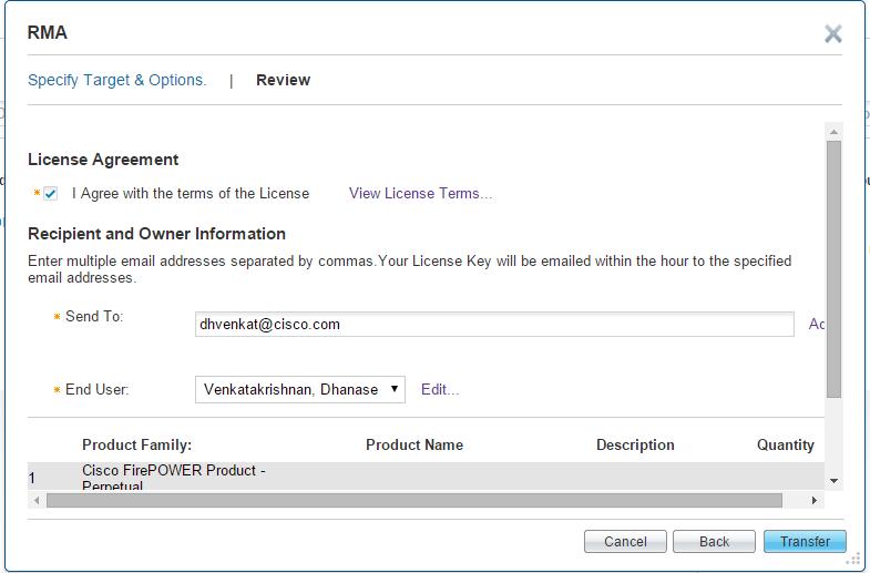 Cisco license transfer policy