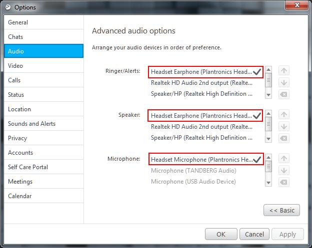Jabber for Windows Audio Setting Method 6