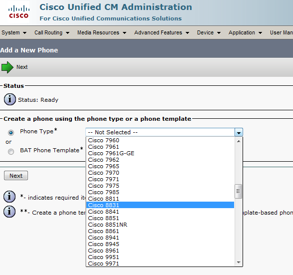 Solved: Cannot add Cisco 8865 to CUCM 10 5 2 - Cisco Community