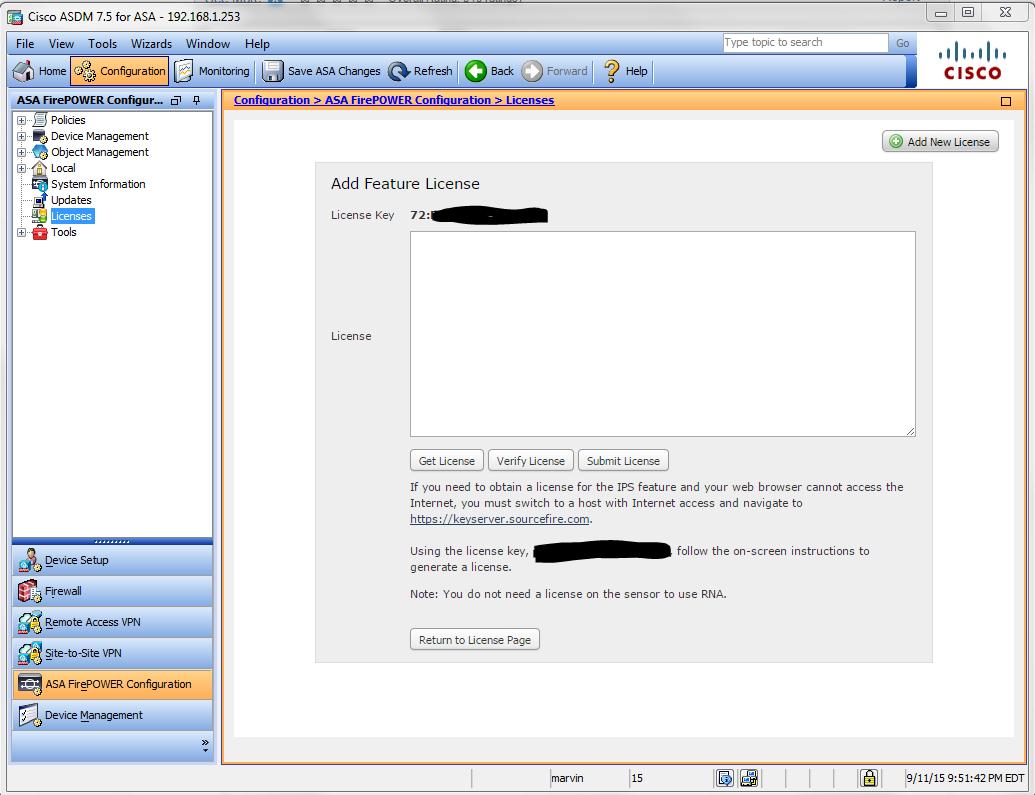 Cisco asa license key cli