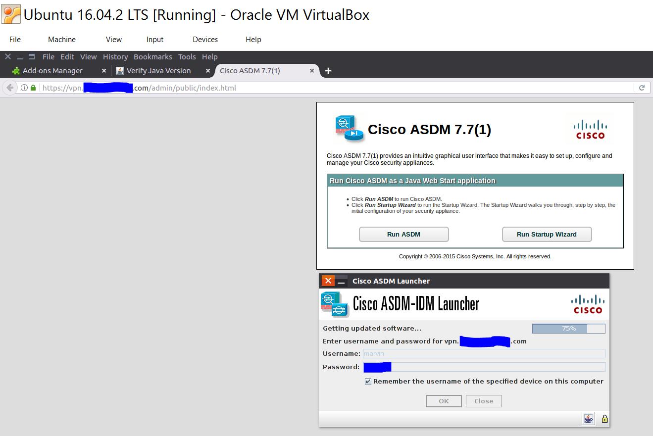 ASDM on Linux 1