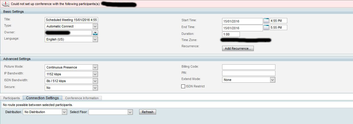 MCU 8510 - TMS - SX10 (SIP only) - eehelp com