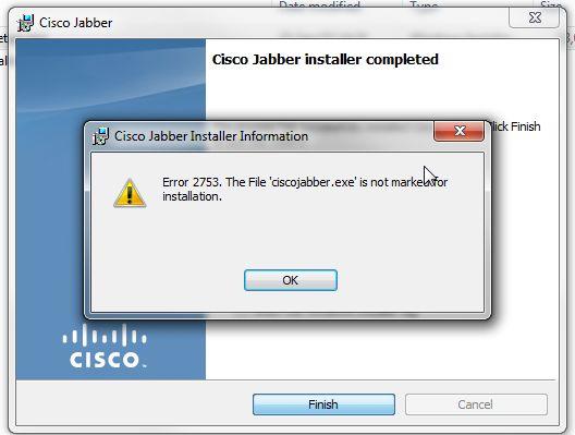 RESOLVED] Jabber 10 6 - Error 2753  Th    - Cisco Community