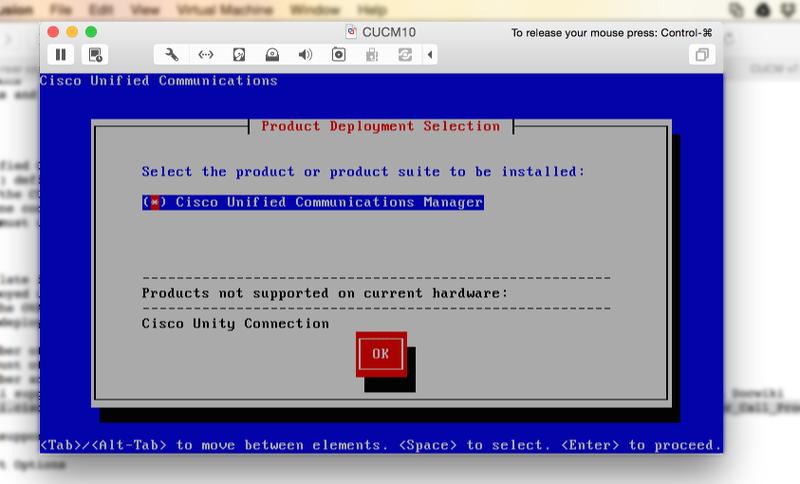 CUC10 5 on VMware Fusion Pro 7 + Macboo    - Cisco Community