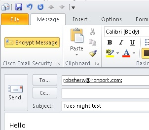 Outlook encrypt option greyed out | Exchange Online Protected Email