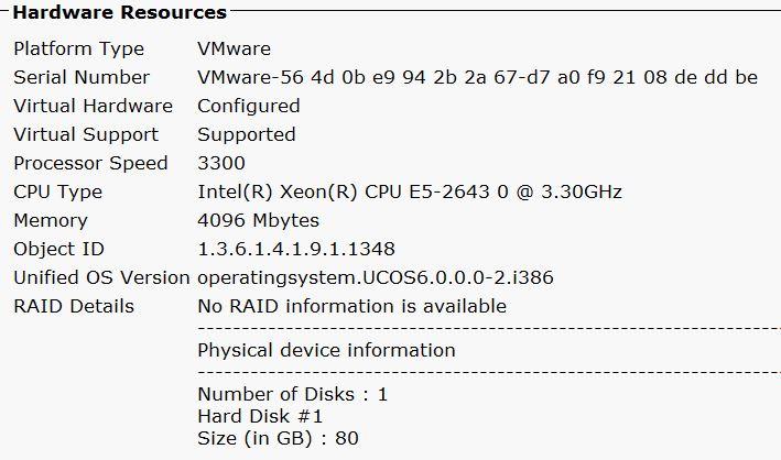CUCM 10 serial number - Cisco Community