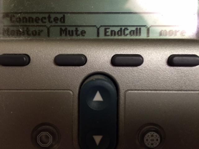 7911 Mute soft key