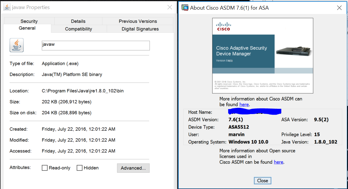 Java and ASDM