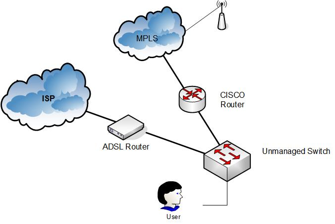 Internet And Mpls Access From Lan