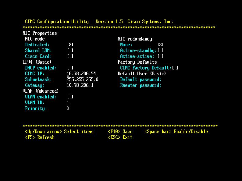 Configure or Change CIMC IP address on     - Cisco Community