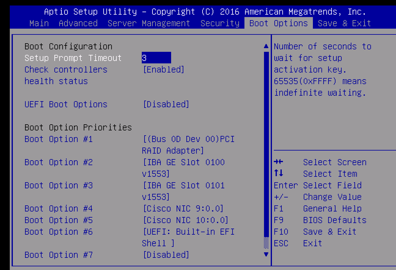 Solved: UCS C240 M4 will not boot from local HD    - Cisco