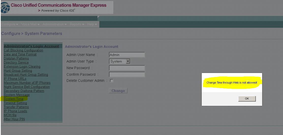 callmanager express 9.1
