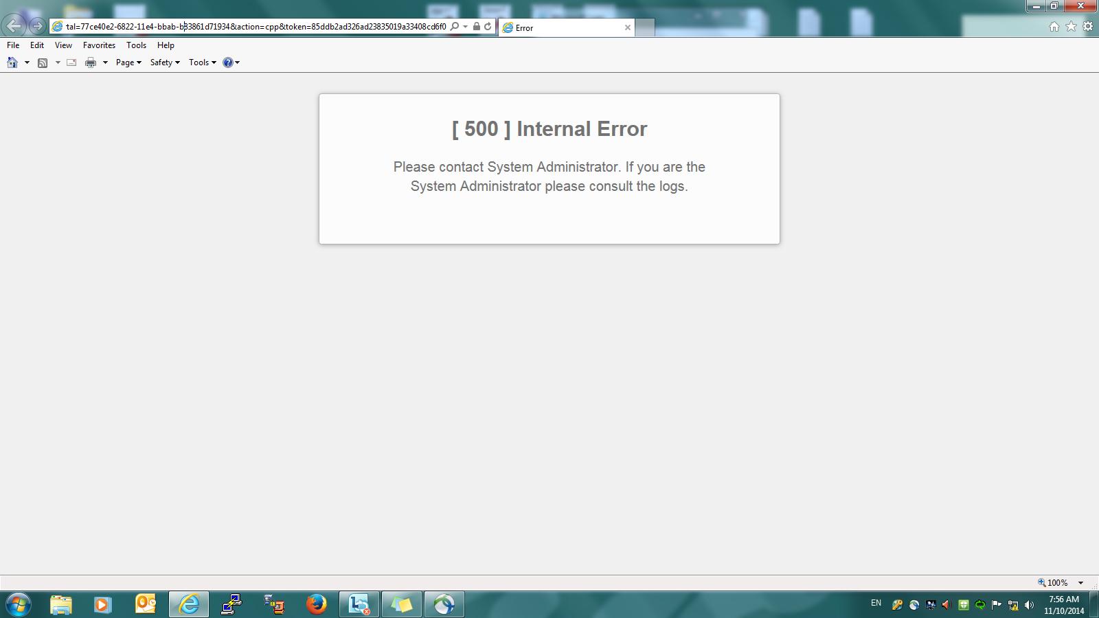 Solved: ISE Internal error suddenly appear - Cisco Community