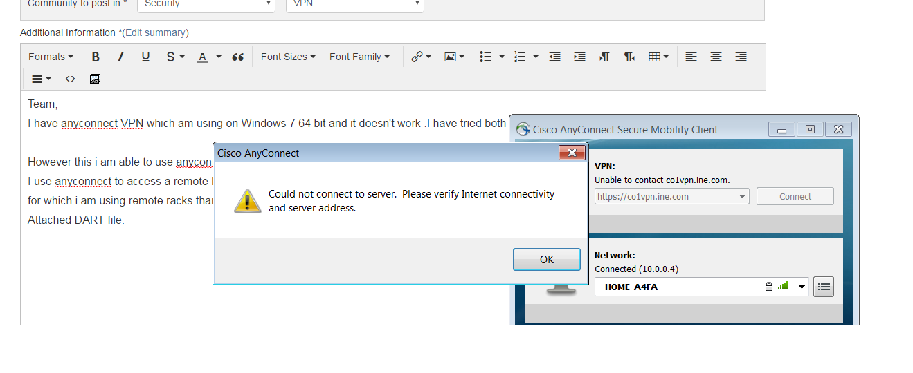 cisco anyconnect windows 7 issues